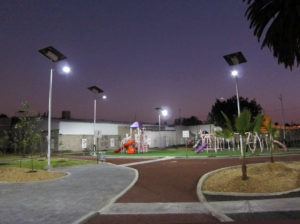 EG solar park lights in Mexico City