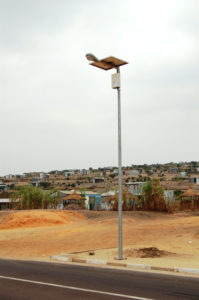 Equatorial solar street light