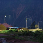 Equatorial solar lights in Peru