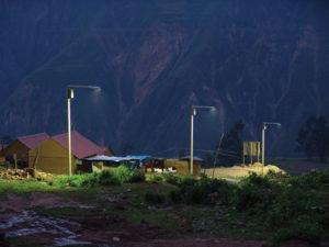 Equatorial solar lights in Peru