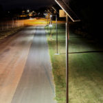Sol Greenway solar pathway lights at night