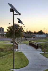Sol Greenway solar park lights