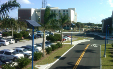 Indian River State College solar powered street lights installation
