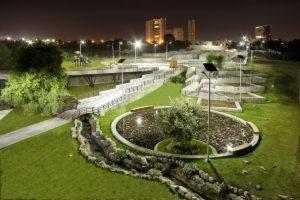 Solar park lighting in Puebla, Mexico