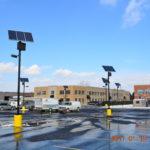 Solar parking lot lights in Washington
