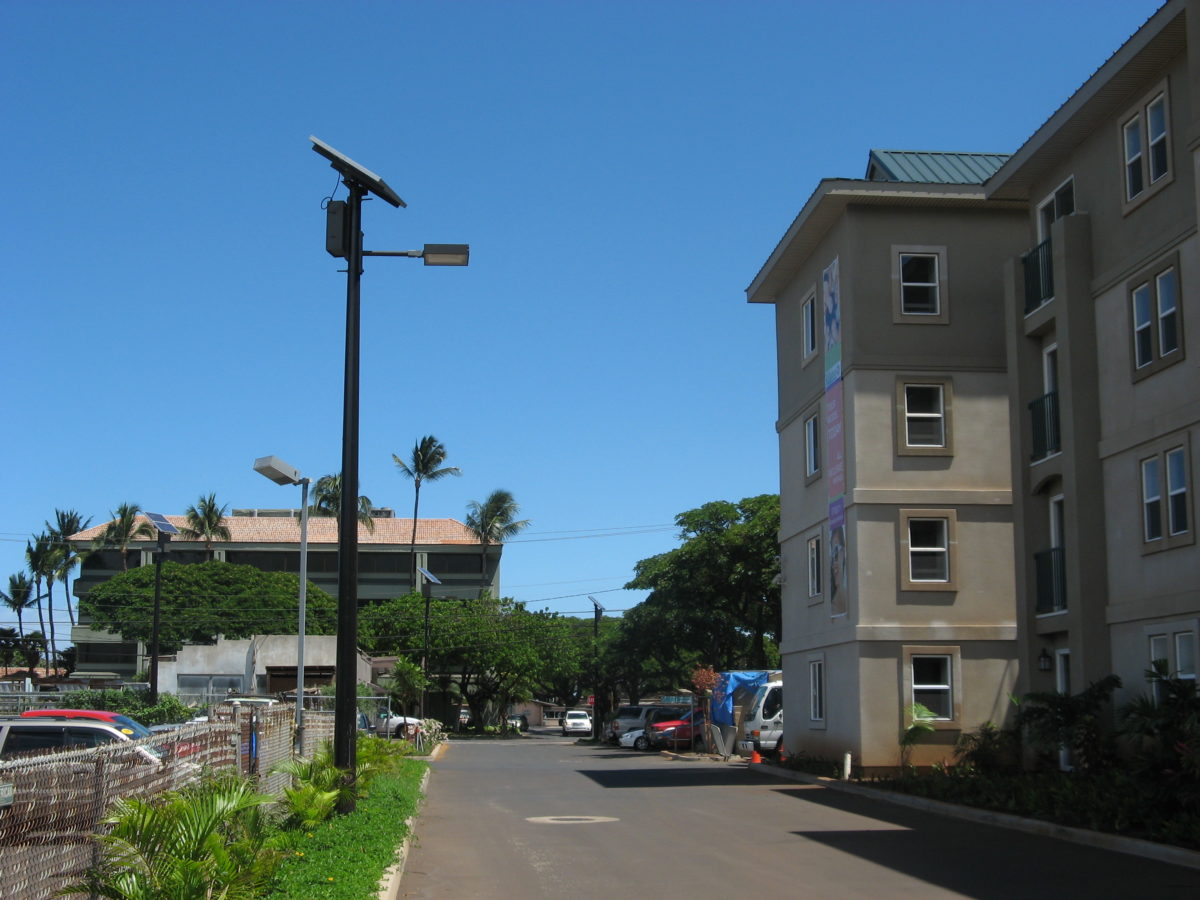 Top of pole series sol by carmanah tp solar lighting installation for student housing arubaitofo Choice Image
