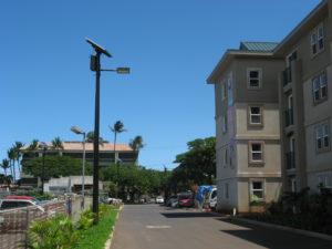 TP solar lighting installation for student housing