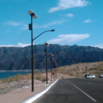 TP solar lights by Lake Mead