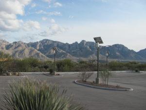 Sol TP solar parking lot lights