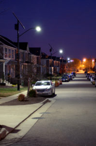 TP solar street lights in a residential area
