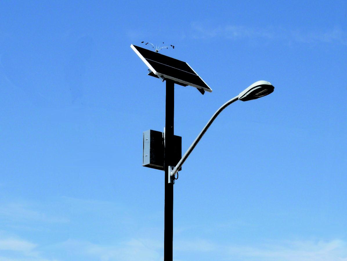 solar pole lighting