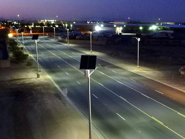Chandler solar street light installation