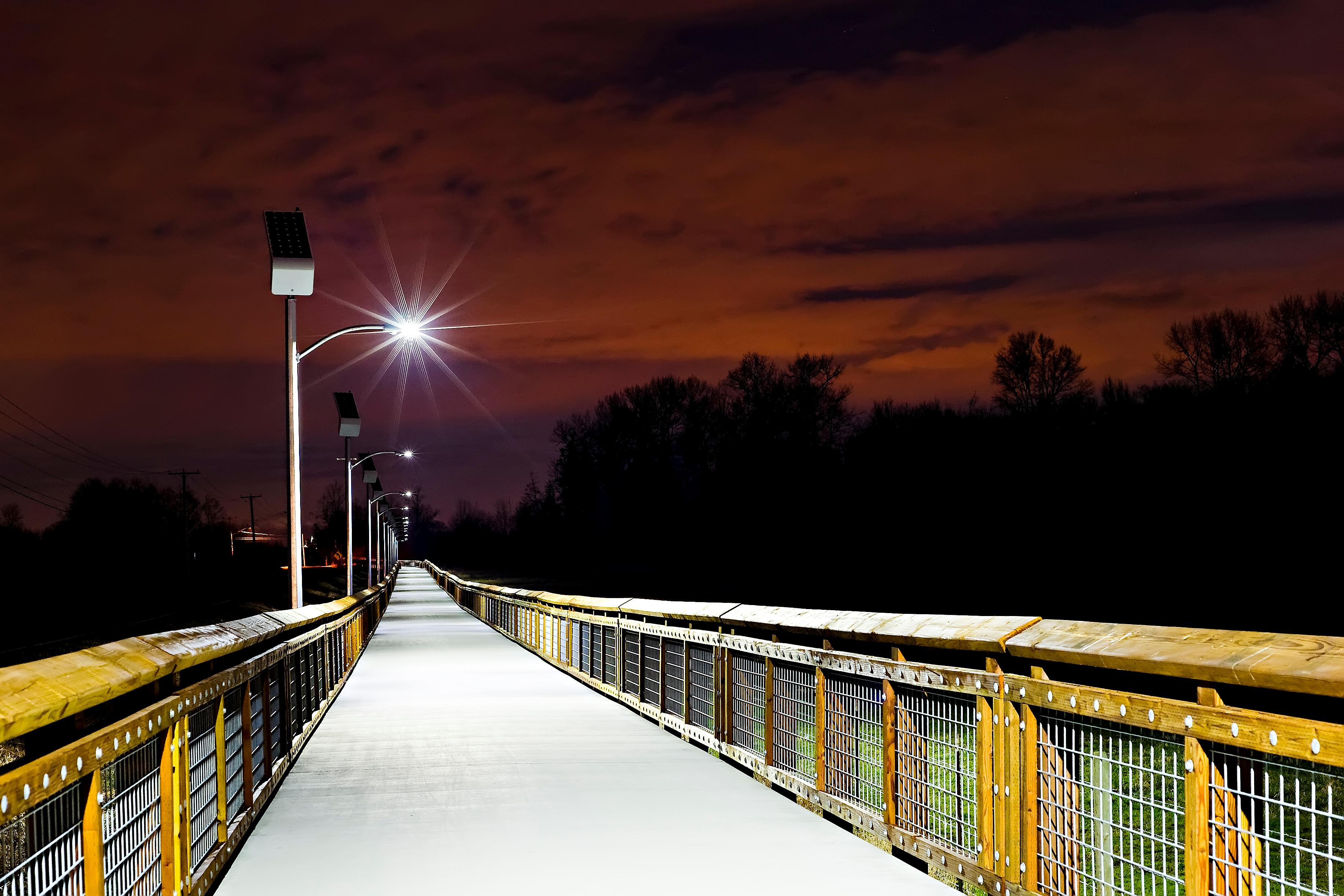 Lummi Nation solar pathway lights