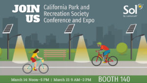 Visit Sol at booth 140 at California Park and Recreation Society Expo