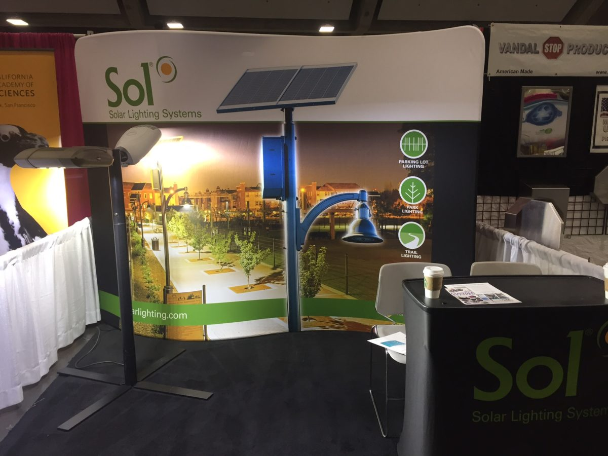 Sol exhibits solar street lighting at CPRS 2017
