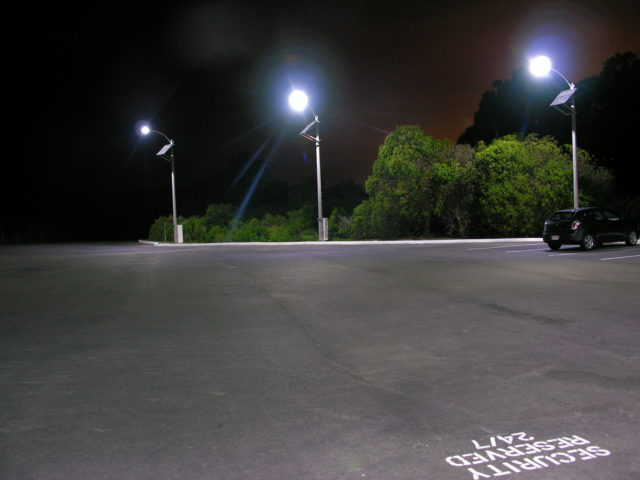 Solar LED parking lot lights