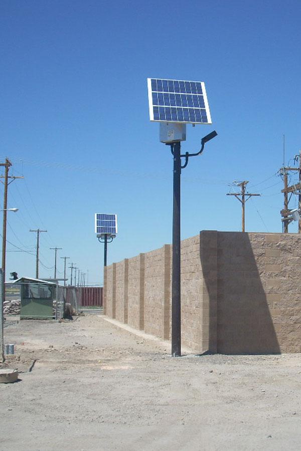 Solar Perimeter Led Lighting Solar Lights At Nas Fallon