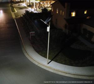 Beaumont, CA, street light on street corner