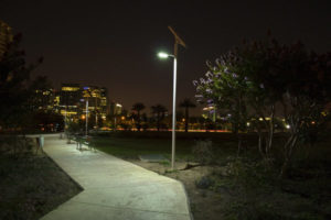 Juan Pablo II solar LED lighting
