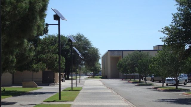 Odessa College solar landscape lighting