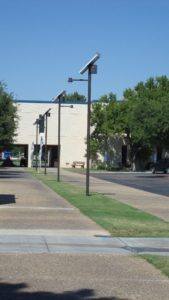 Odessa College solar landscape lighting install