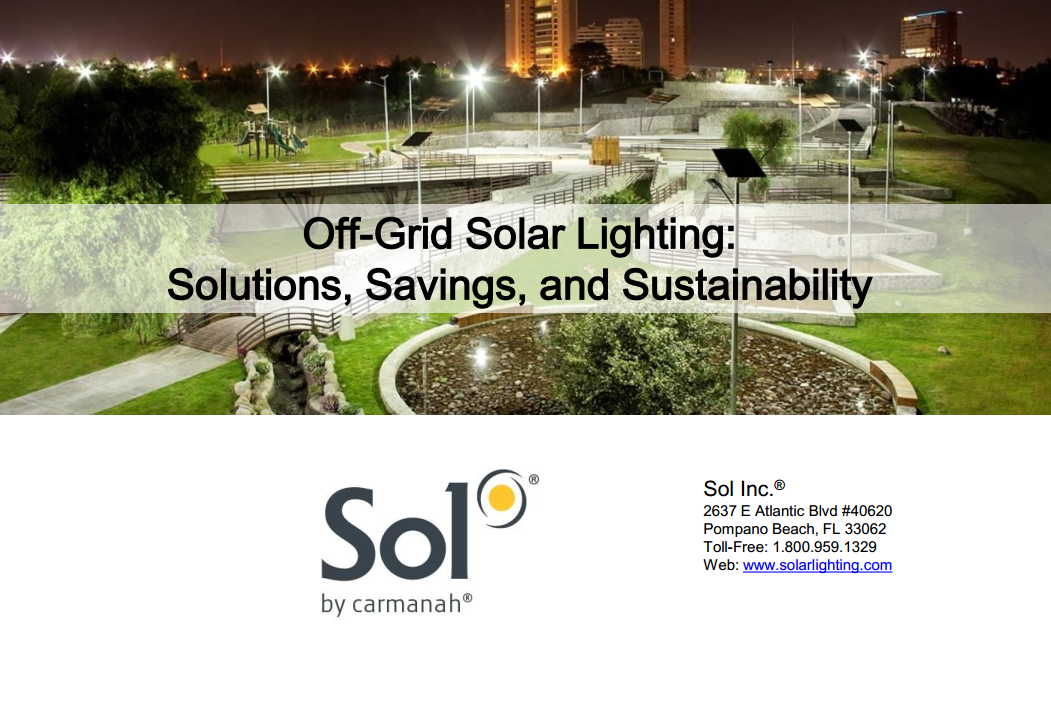 Solar Outdoor Lighting Inc Solar outdoor lighting for military from sol by carmanah aec daily commercial solar outdoor lighting system course slide workwithnaturefo