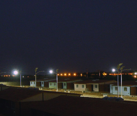 Solar street lighting at a PDVSA housing complex in Venezuela