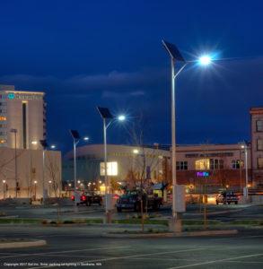 Solar parking lot lights, Spokane, WA