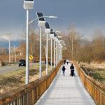 Solar pathway lights, Lummi Nation, Bellingham, WA