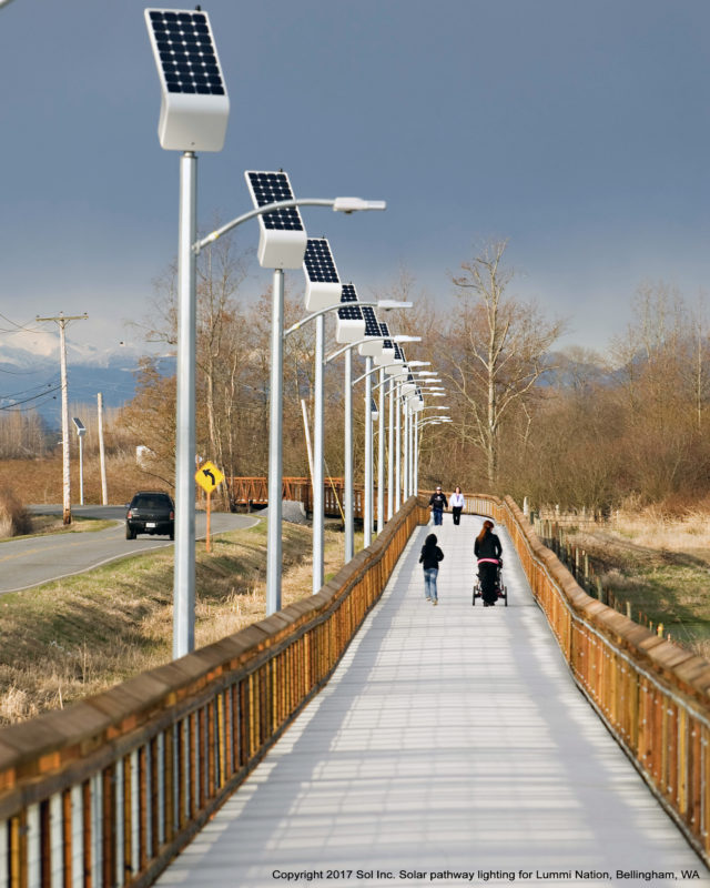 Solar pathway lights, Lummi Nation, Bellingham, WA