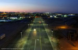 Solar street lighting, Chandler, AZ
