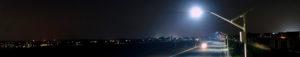 solar street lighting in Beaumont, California