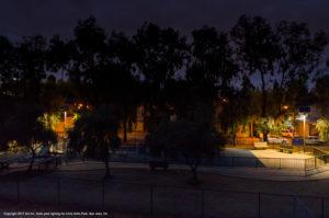 Solar park lights in Chris Hotts Park, San Jose, CA