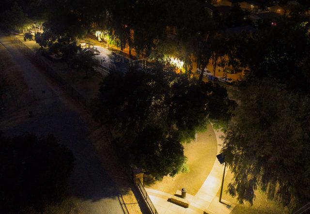 EverGen M Series solar park lighting in Chris Hotts Park, San Jose