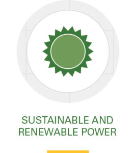 Icon, sustainable and renewable power