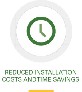 Icon, reduced installation costs and time savings
