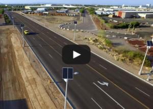 video of the solar-LED street lighting combination in Chandler, AZ