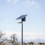 Solar park lights in Sand Creek Park, Aurora, CO