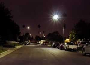 solar street light installation in los angeles, california
