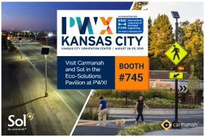 carmanah and sol american public works pwx expo banner