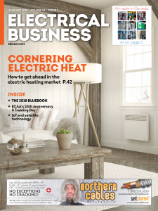 Electrical Business Magazine cover with IoT article