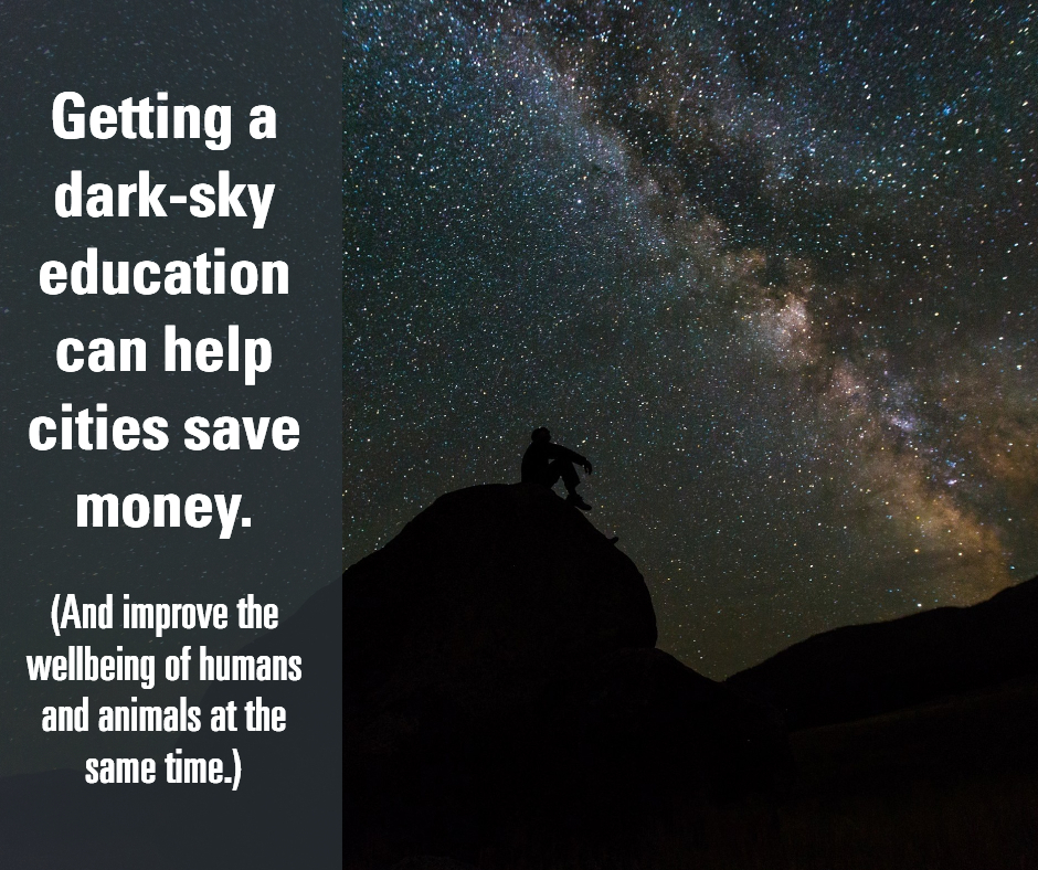Dark-sky education can help cities save money