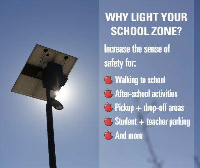 why add light to a school zone?