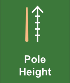 commercial solar lighting question 4, ask about the pole height