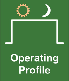 commercial solar lighting question 6, ask about the operating profile