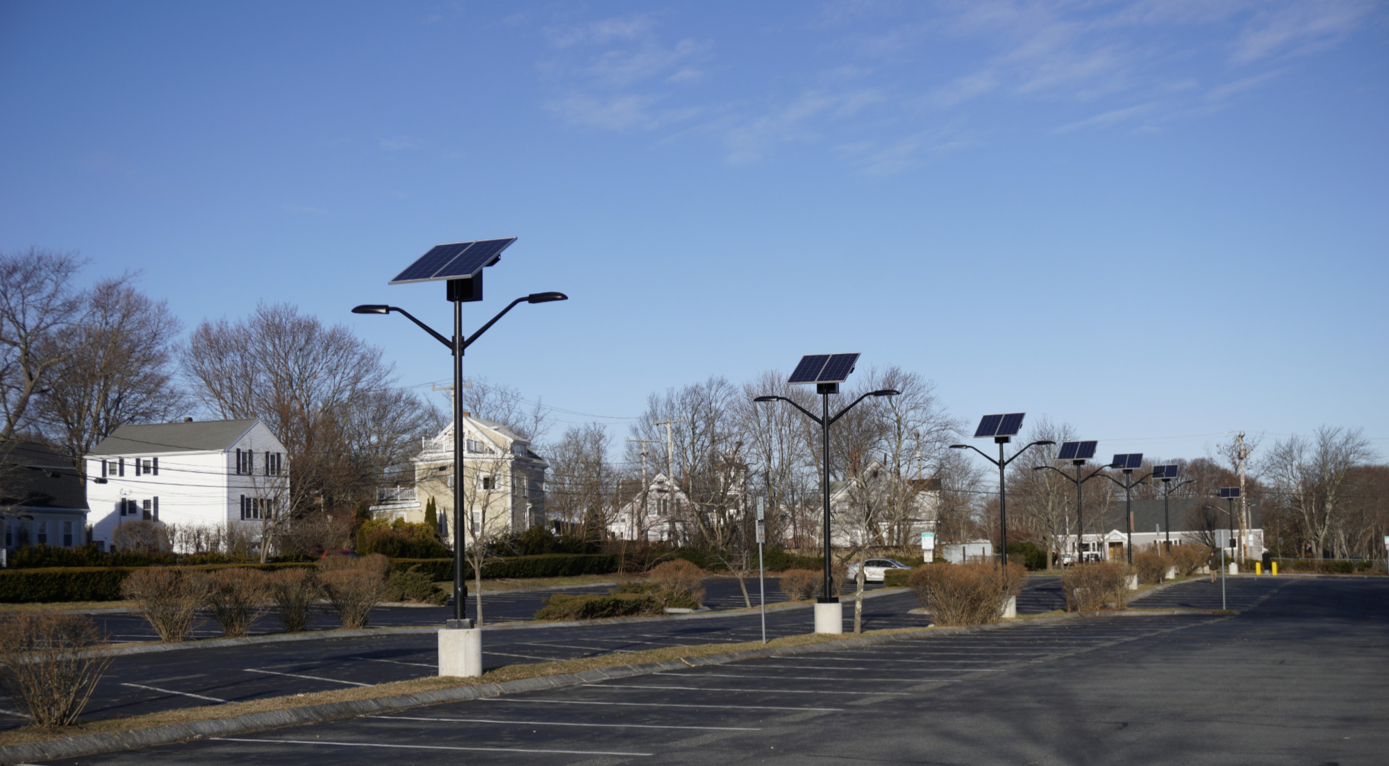 EverGen Solar Street Light in Plymouth, MA - SOL Parking Light